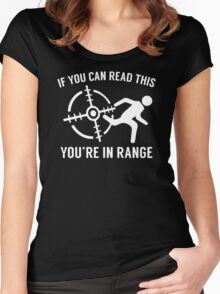 Youre In Range Women's Fitted Scoop T-Shirt
