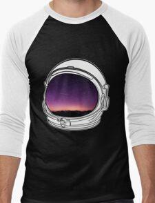 Sunset on the Moon on white  Men's Baseball ¾ T-Shirt