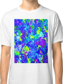 """""""PSYCHEDELIC FLOWER GARDEN"""" Abstract Painting Print Classic T-Shirt"""