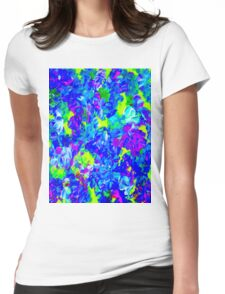 """""""PSYCHEDELIC FLOWER GARDEN"""" Abstract Painting Print Womens Fitted T-Shirt"""