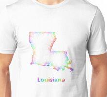 Rainbow Louisiana map Unisex T-Shirt