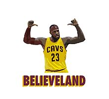 Believeland Photographic Print