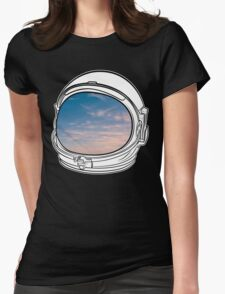 Blue Sky on the Moon on black  Womens Fitted T-Shirt