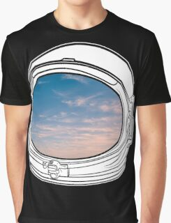 Blue Sky on the Moon on black  Graphic T-Shirt