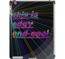 Edgy and cool in neon iPad Case/Skin