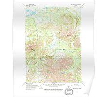 USGS TOPO Map Alaska AK Lime Hills A-7 357021 1954 63360 Poster