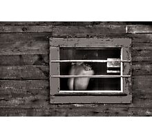 Monochrome Torso in a Window Photographic Print