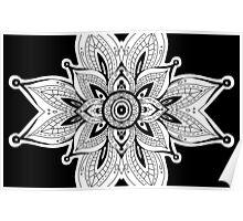 Mirrored Mandala Design  Poster
