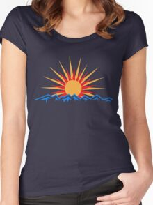 Mountain Sunrise Women's Fitted Scoop T-Shirt