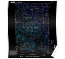 USGS TOPO Map Alaska AK Valdez B-1 360305 1995 63360 Inverted Poster