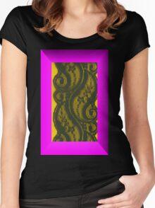 Villette Black Lace Women's Fitted Scoop T-Shirt