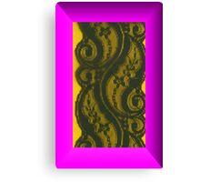 Villette Black Lace Canvas Print