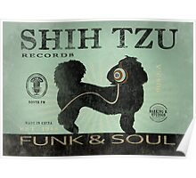 SHIH TZU RECORD LABEL FUNK AND SOUL ART PRINT Poster