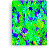 """FLOWER GARDEN ART DECO"" Abstract Painting Print Canvas Print"