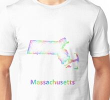 Rainbow Massachusetts map Unisex T-Shirt