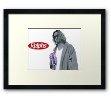 69 cent.  Jeffrey Lebowski, AKA The Dude at Ralph's Framed Print