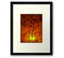 Fire Dance for Cello Framed Print