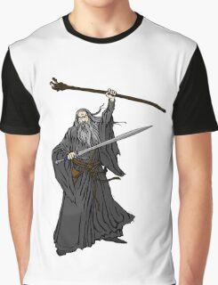 Gandalf The Grey Cartoon Graphic T-Shirt