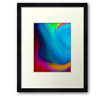 Simply Color Abstract Framed Print