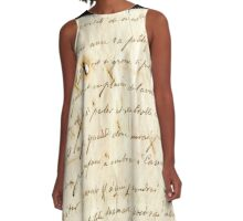 Handwritten old letter A-Line Dress