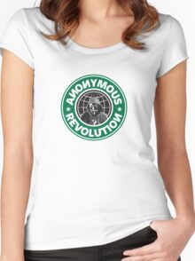 Anonymous Revolution 2014 Women's Fitted Scoop T-Shirt