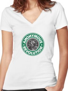 Anonymous Revolution 2014 Women's Fitted V-Neck T-Shirt