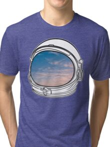 Blue Sky on the Moon on white Tri-blend T-Shirt
