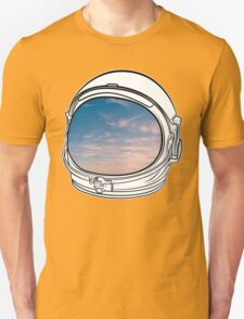 Blue Sky on the Moon on white T-Shirt