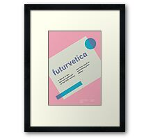 futurvetica BLUE/PINK Framed Print