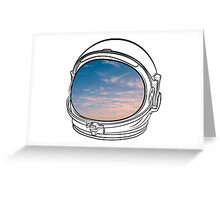 Blue Sky on the Moon on white Greeting Card