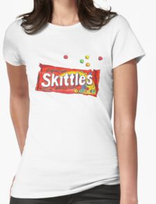 SKITTLES TUMBLR PNG Womens Fitted T-Shirt