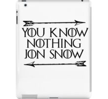 You Know Nothing Jon Snow iPad Case/Skin