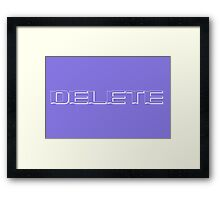Delete collection Framed Print