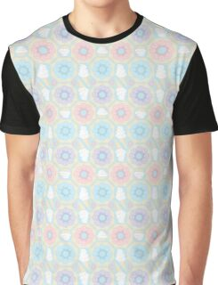Pastel Sweets Pattern Graphic T-Shirt