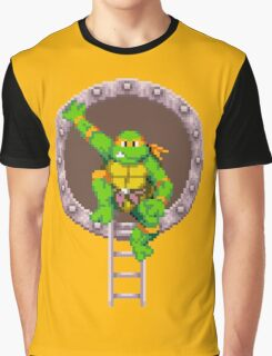 TURTLES IN TIME - MICHAELANGELO  Graphic T-Shirt