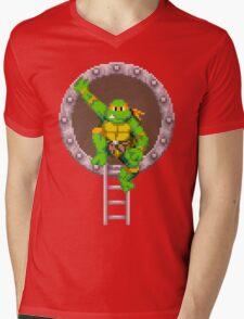 TURTLES IN TIME - MICHAELANGELO  Mens V-Neck T-Shirt