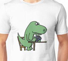 Funny T-Rex Dinosaur Playing Cards  Unisex T-Shirt