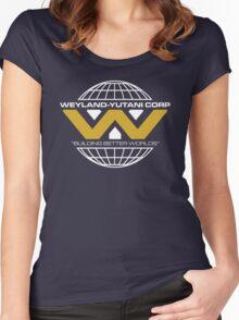 The Weyland-Yutani Corporation Globe - Clean Women's Fitted Scoop T-Shirt
