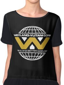 The Weyland-Yutani Corporation Globe - Clean Chiffon Top