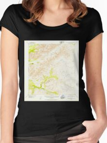 USGS TOPO Map Alaska AK Talkeetna Mountains D-2 359671 1952 63360 Women's Fitted Scoop T-Shirt