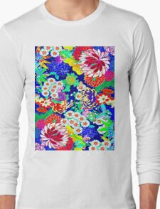 """COLORFUL ABSTRACT FLOWER"" Art Print Long Sleeve T-Shirt"