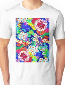 """""""COLORFUL ABSTRACT FLOWER"""" Art Print Unisex T-Shirt"""