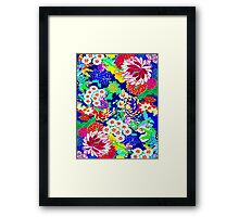 """""""COLORFUL ABSTRACT FLOWER"""" Art Print Framed Print"""