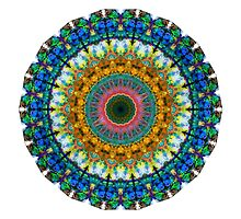 Miracle Mandala Art by Sharon Cummings by Sharon Cummings