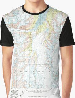 USGS TOPO Map Alaska AK Anchorage A-5 361725 1960 63360 Graphic T-Shirt