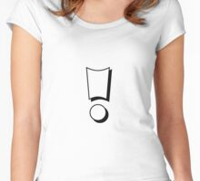 Exclamation mark Women's Fitted Scoop T-Shirt