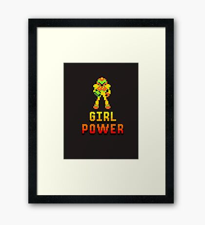 8 Bit Girl Power Framed Print