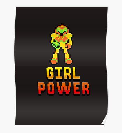 8 Bit Girl Power Poster