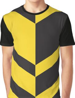 Abstract Pattern - Black & Yellow Graphic T-Shirt