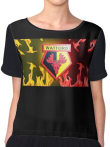 Watford Crest Chiffon Top
